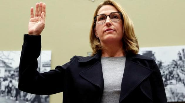 Mylan NL CEO Heather Bresch is sworn in before a House Oversight and Government Reform Committee hearing on the Rising Price of EpiPens, at the Capitol in Washington, US September 21, 2016.(Reuters File Photo)