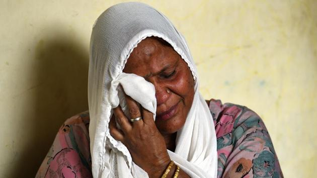 Attar Kaur, lost her husband along with other relatives during 1984 Sikh riots in New Delhi, on October 29.(Sanchit Khanna/HT Photo)