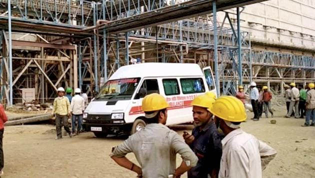At least 20 people died in an explosion at government-run NTPC Unchahar power plant in Raebareli district on Wednesday.(PTI Photo)