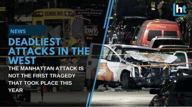 The Manhattan tragedy is not the first attack that has left people dead or injured. Here's a list of the deadliest attacks in the West in 2017.