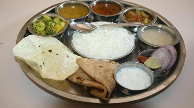 A traditional Indian thali.(HT file)