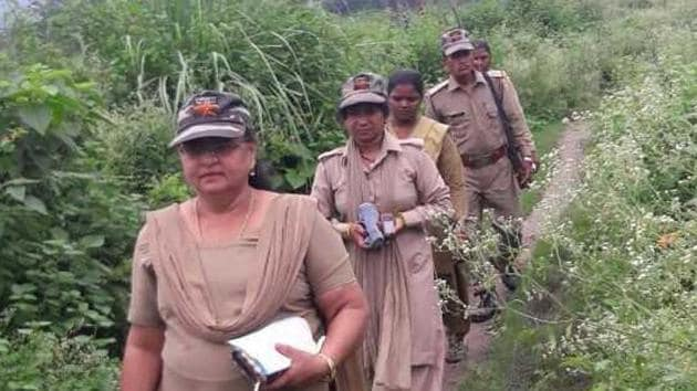 Over the past eight months, the team has collected over 200 scythes from women who habitually entered the reserve, generally to collect firewood or grass(Nihi Sharma/HT Photo)
