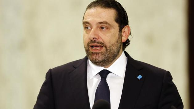Lebanon's new Prime Minister Saad Hariri speaking to journalists following his nomination at the presidential palace in Baabda, near Beirut on November 3, 2016 .(AFP File Photo)