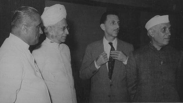 Outside his entrepreneurial career, JRD Tata helped build independent India's finest centre of science, the Tata Institute of Fundamental Research, and helped fund India's finest arts magazine, Marg(HT Photo)