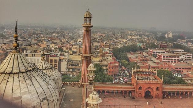 View of Old Delhi from Jama Masjid(Shivam Saxena/HT)