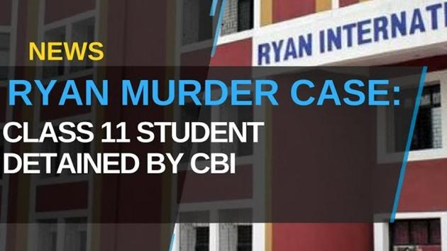 The Central Bureau of Investigation (CBI)held a press conference on Wednesday, confirming a Class 11 student was detained in connection with the murder of a second grader at the Ryan International School in Gurgaon