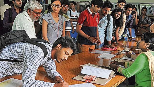 Establishment of National Testing Agency will benefit about 4 million students appearing in various entrance examinations.(HT File Photo)
