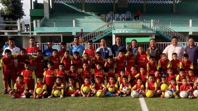 Mizoram's Champhai district, located on the Indo-Myanmar border, is taking the lead to implement 'baby leagues'.(Champhai District Football Association)