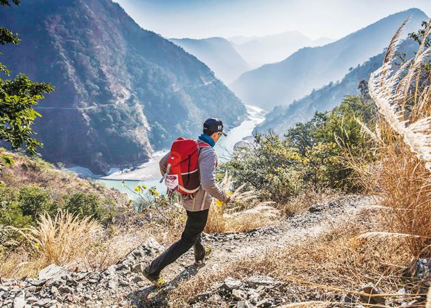 Hop, skip and jump in the Himalayas