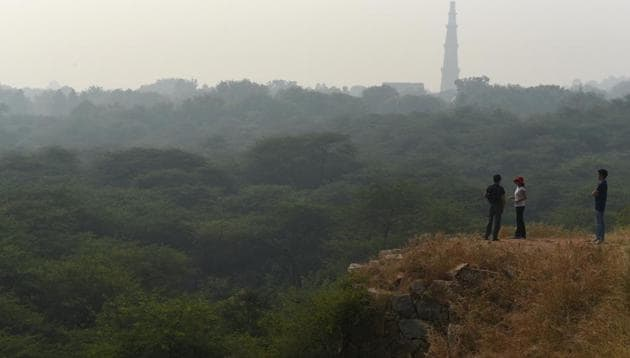 The Aravallis mountain range extends over 692 km, from Ahmedabad in Gujarat to Delhi through Rajasthan and Haryana.(Sanchit Khanna/HT Photo)