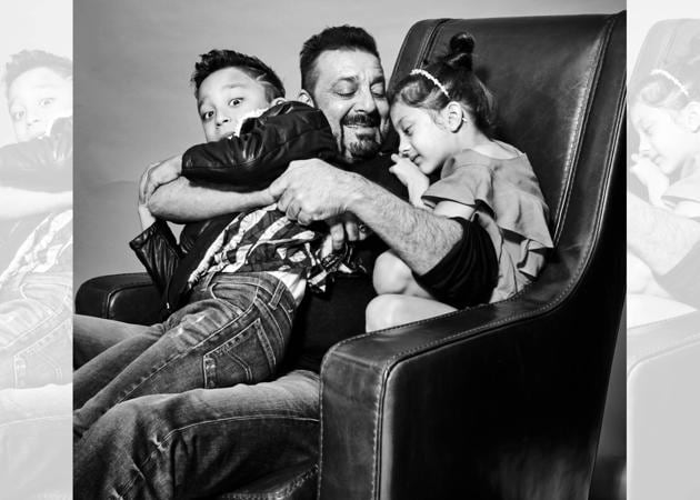 Sanjay Dutt's twins, Iqra and Shahraan at their first ...