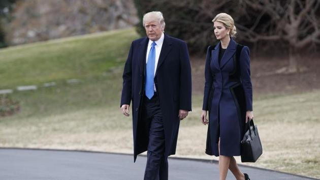 United States President Donald Trump and his daughter Ivanka Trump at the White House in Washington.(AP File Photo)