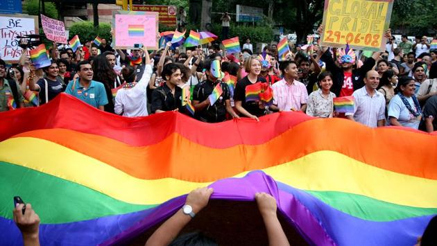 The first ever Delhi Queer Pride march was held in June 2008 in New Delhi. The celebratory march began at 5.30 pm from Regal Building and ended at Jantar Mantar. (Jasjeet Plaha / HT Photo)