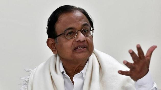 Former finance minister and Congress leader P Chidambaram.(File)