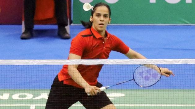 India's Saina Nehwal has entered the second round of the China Open badminton.(PTI)