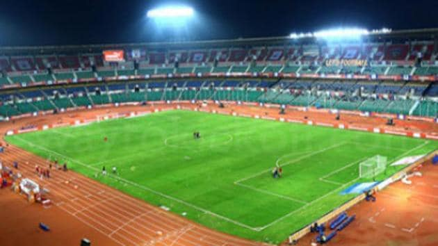 The Jawaharlal Nehru stadium in Chennai will host all the games of Chennaiyin FC in the Indian Super League.(Twitter)