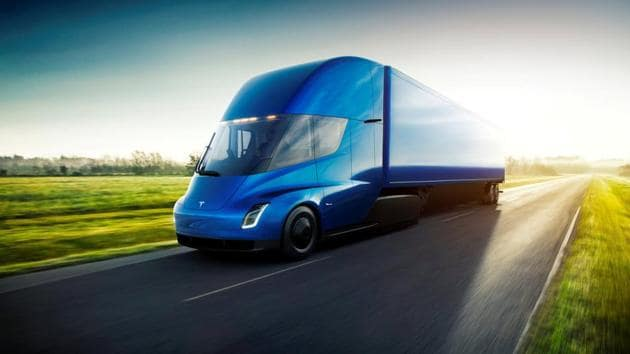 The Tesla Semi, the company's electric big-rig truck, is seen in this undated handout image released on November 16, 2017.