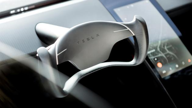 Tesla Roadster 2 is shown in this undated handout photo, during a presentation in Hawthorne, California. (REUTERS)