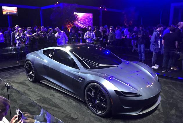 Tesla's new Roadster has a top speed of 250mph. (REUTERS)