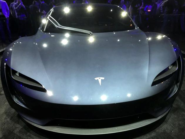 Tesla's new Roadster is unveiled during a presentation in Hawthorne, California, US. (REUTERS)