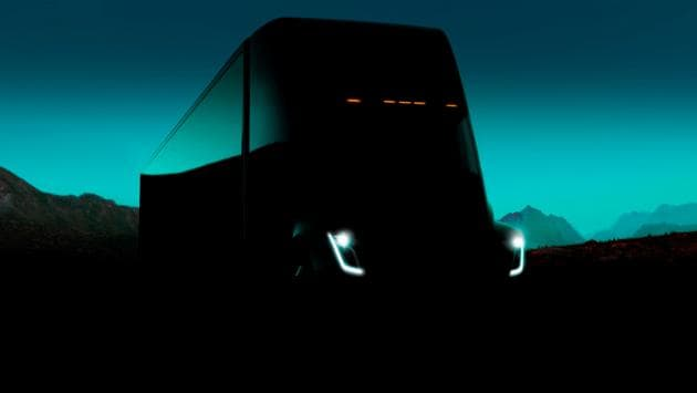 The Tesla Semi, the company's electric big-rig truck can go from zero to 60 mph in 5 seconds without a trailer, and in 20 seconds when carrying a maximum load of 80,000 pounds, less than a third of the time required for a diesel truck. (REUTERS)