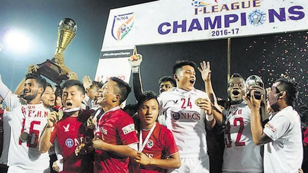 Aizawl FC, who won the I-League in 2016, are just one of three notable sides who ply their trade in the Indian football league.(PTI)