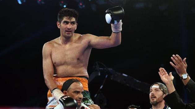 Vijender Singh will take on Rocky Fielding, who will defend his newly acquired British and Commonwealth Super middleweight title in March 2018.(AFP)