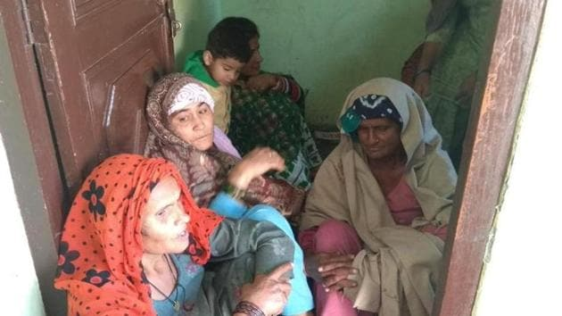 Dhanno Devi, the children's 58-year-old grandmother, said her son got rid of his three children because of an extramarital affair.(HT Phtoo)