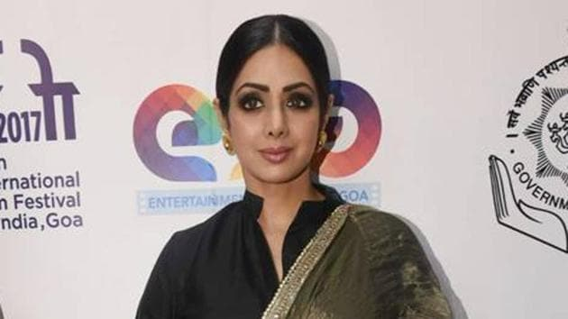 Actor Sridevi showed how a lehenga need not necessarily be paired with a blouse.(Instagram)