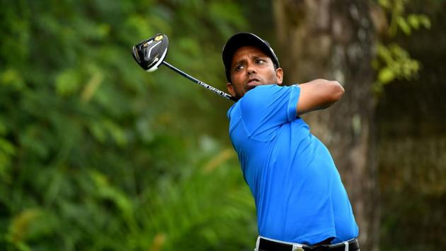 Indian golfer SSP Chawrasia in action during the Hong Kong Open.(AFP)