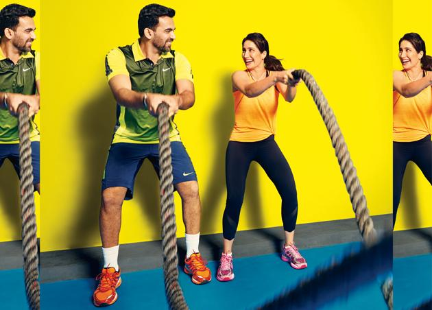 Power couple goals with Zaheer Khan and Sagarika Ghatge.(Shot exclusively for HT Brunch by Prabhat Shetty)