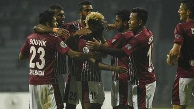 Sony Norde will be turning out in Mohun Bagan colours yet again when the I-League kicks-off on Saturday.(HT Photo)