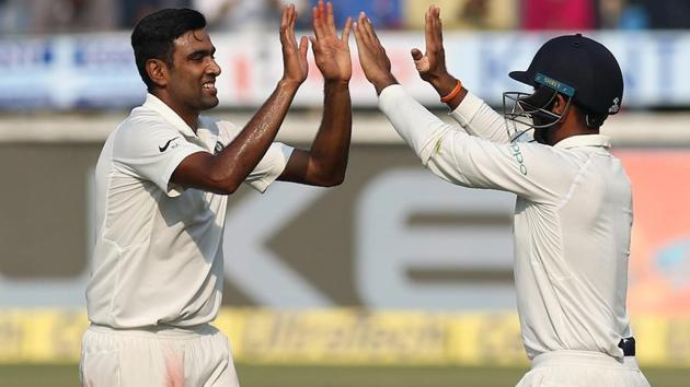<p>Ravichandran Ashwin took four wickets on Day 1 of  the second India vs Sri Lanka Test In Nagpur on Friday.</p> (BCCI)