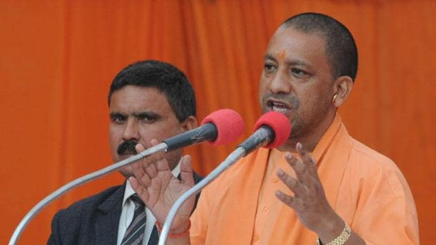 Utter Pradesh Chief Minister Yogi Adityanath was named as one of the accused in the dargah burning case of 2017 in Gorakhpur .(HT Photo)