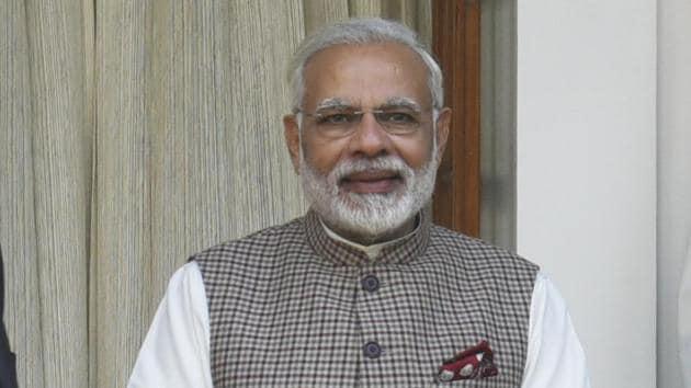 Prime minister Narendra Modi at Hyderabad House in New Delhi, on Thursday, November 23, 2017.(Sushil Kumar/ Hindustan Times)