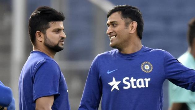 MS Dhoni often gets angry only when there aren't television cameras around, according to Suresh Raina, who has shared the Chennai Super Kings dressing room for several seasons.(Hindustan Times)