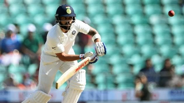 Virat Kohli in action on Day 3 of the second Test match between India and Sri Lanka at the Vidarbha Cricket Association Stadium in Nagpur.(AFP)