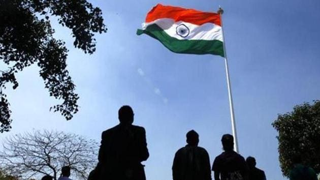 Earlier this month, the Jaipur Municipal Corporation (JMC) had ordered that national anthem will be played at the JMC headquarters every morning while Vande Mataram will be played in the evening.(HT Photo)