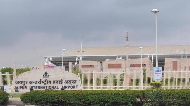 Four years ago, international flights were operated from Terminal 1 of Jaipur airport.(HT PHOTO)