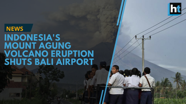 Indonesia's Mount Agung volcano is spewing dark gray ash and threatening to erupt. The authorities raised the volcano's alert to the highest level on November 27, 2017, and expanded an exclusion zone to 10 kilometers (6 miles) from the crater. The eruption forced the shut down of the international airport in Bali, leaving thousands of tourists stranded.