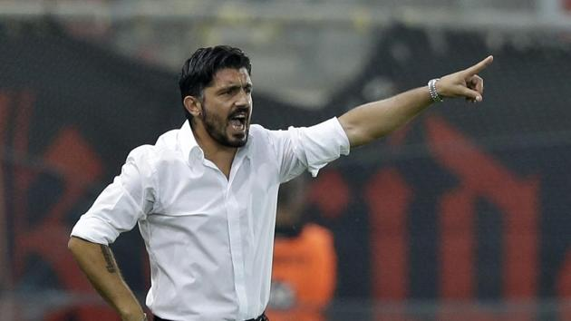 AC Milan, who will be coached by Gennaro Gattuso now, have not finished higher than sixth in Serie A in any of the last four seasons.(AP)