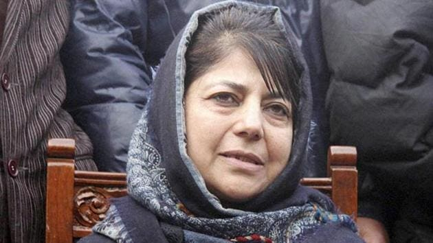 File photo of Jammu and Kashmir chief minister Mehbooba Mufti.(PTI Photo)