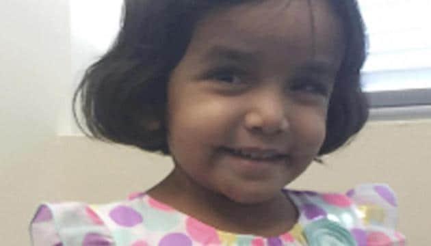 Sherin Mathews was adopted by Indian-American couple Sini Ann Mathews and Wesley Mathews.(AP File Photo)