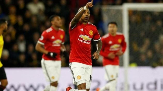 Manchester United, who had lost their last two away Premier League games, bounced back in style to beat Watford 4-2 thanks to a brace from Ashley Young.(REUTERS)