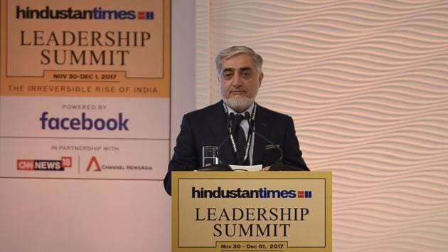 Special address by Dr. Abdullah Abdullah, Chief Executive of the Islamic Republic of Afghanistan at the 15th Hindustan Times Leadership Summit. Dr. Abdullah was very thankful to India's soft power and generosity which ranged from infrastructure building to opening trade and providing education to the youth of Afghanistan.
