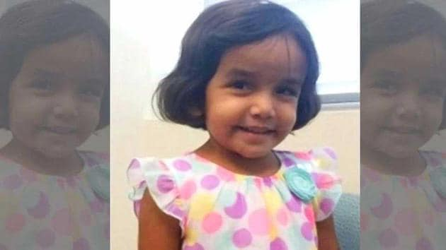 Sherin Mathews, a three-year-old Indian girl who was found dead in a ditch last month in the US state of Texas, had a series of broken bones and injuries in various stages of healing.(File Photo)