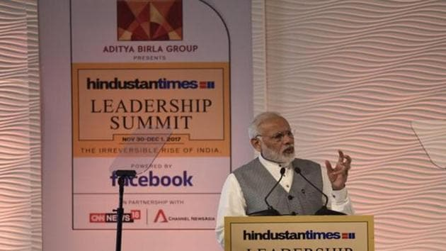 """I am willing to pay a political price to fight corruption"" : Narendra Modi at the 15th Hindustan Times Leadership Summit"