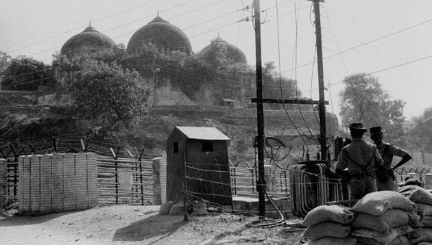 The Babri Masjid in Ayodhya, Nov, 1990. This week it will be 25 years since it was demolished, and it's legacy continues to play out in Indian politics(PTI)