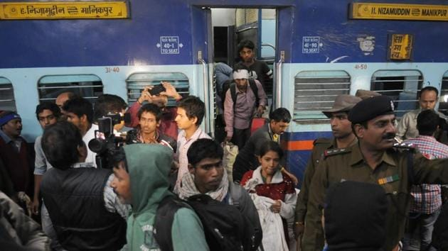 According to railway officials, 7.5 lakh tickets are booked daily. Five lakh tickets are booked at Passenger Reservation System counters.(AP File Photo)