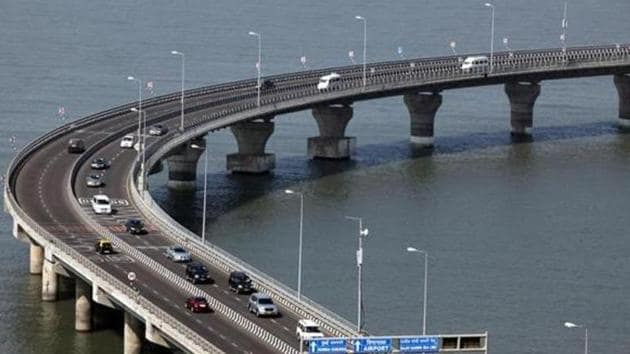 The sea link is a crucial component of the coastal road project, which envisages connecting south Mumbai and the western suburbs by a series of reclaimed roads, tunnels and a sea links.(FILE)